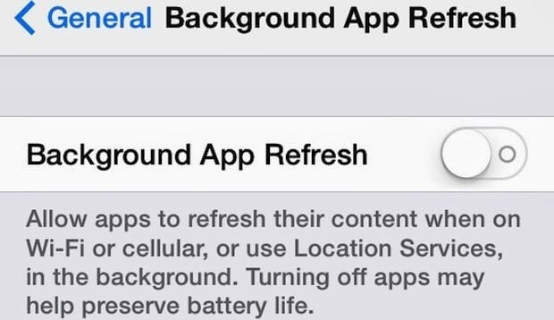 What is background app refresh